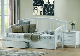 Wooden Sofa Come Bed Design Polo White Wooden Day Bed With Guest Bed With Matching White Under