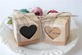 bonbonni re mariage 12 pcs de mariage bonbonnière coeurs en amour rustique kraft