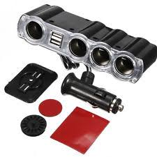 Multi Socket Car Charger With Usb Port Usb Port Cigarette Lighter Splitter Car Electronics Adapters Ebay