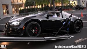 gold and black bugatti unloading a bugatti veyron grand sport vitesse black bess youtube