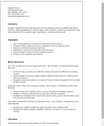 department store sales associate cover letter