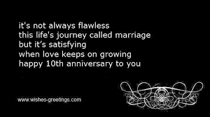 wedding wishes journey 10th wedding anniversary wishes and tenth marriage congratulations