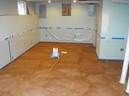 Photos Of Stained Concrete Floors by Basement Concrete Floor Paint Or Stain Basement Gallery
