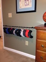 How To Hang Scarves On Curtain Rods by Diy Hat Rack I Used A Curtain Rod Shower Curtain Hooks And