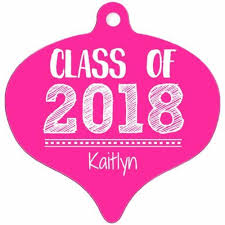 personalize class of 2018 graduation sketched metal ornament