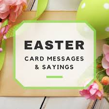happy easter messages and sayings