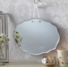 silver gilded or white shabby chic bathroom hall wall small mirror