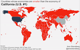 map us states world economies how the national economies of the world compare to u s states