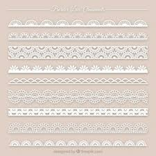 collection of lace ornament vector free