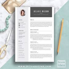 1 Page Resume Templates Creative Resume Template Modern Cv Template Word Cover Letter