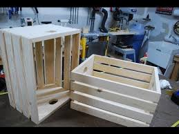 How To Make A Toy Chest Out Of Pallets by How To Make Wood Crates Woodlogger Com Youtube