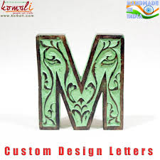 indian handmade large wooden wholesale wood letters custom antique