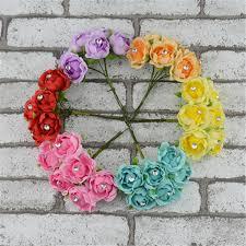 Cheap Flowers For Wedding Cheap 6pcs Lot 2 5cm Valentine Gift Mini Artificial Silk Diamond