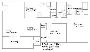 2 Bedroom House Plans In 1000 Sq Ft Fantastic Floor Plan 1000 Square Foot House Javiwj
