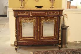 napoleon side cabinet french server with brass mountings