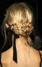 romantic braided hair with ribbon beauty hair envy pinterest