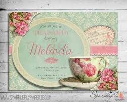 vintage tea cup bridal shower baby shower birthday party