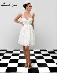 Short White Wedding Dresses Aliexpress Com Buy Simple Scalloped A Line Short Wedding Dresses