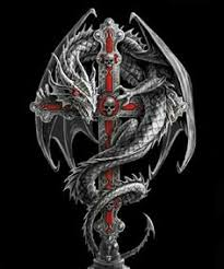 tattoo cross dragon woodland guardian cross stitch pattern anne stokes dragons and cheer