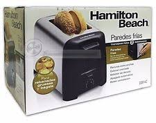 Hamilton Beach Two Slice Toaster Hamilton Beach 2 Slice Chrome Black Toaster Cool Wall 22614z Ebay