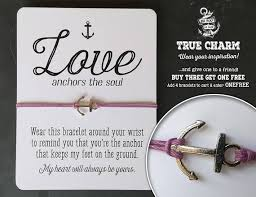 Love Anchors The Soulnautical Anchor - valentine bracelet love jewelry valentines day gift