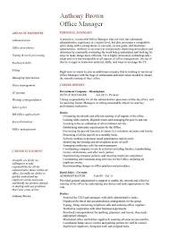 Sample Medical Office Manager Resume by Office Manager Cv Sample