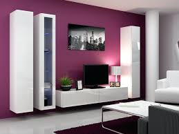 Bedroom Wall Storage With Tv Tv Wall Storage Unit White Brushed Timber Doorswall Bins Ikea