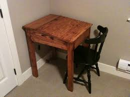 Diy Simple Wood Desk by Furniture Meticulous Diy Work Desk With Dark Wood Finish And