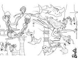 merliah eris fighting oceana throne free barbie coloring