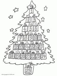 christmas tree printable coloring pages coloring pictures