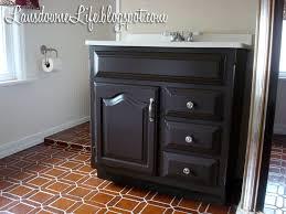 Painting Bathroom Vanity by 100 Bathroom Challenge Painting The Vanity Lansdowne Life Dark
