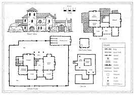 Italian Floor Plans Medieval Italian Or Spanish Villa Plan Stock Vector Art 639064406
