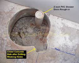 how to finish a basement bathroom shower drain rough in