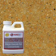 nanoset color 8 oz sunstone interior concrete dye stain