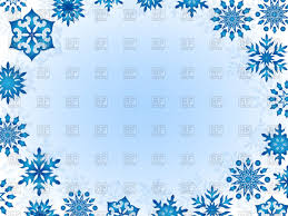 christmas frame of blue snowflakes on white background vector