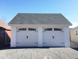 3 Car Garages Built On Site Custom Amish Garages In Oneonta Ny Amish Barn Company