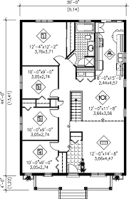 bungalow style house plan 4 beds 1 00 baths 1320 sq ft plan 25 112