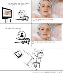 Pimple Meme - funny pimple advert rage comic cereal guy meme pics png 550 640