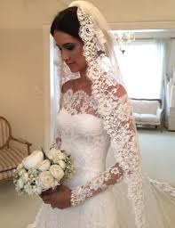 custom made wedding dress white the shoulder lace sleeve bridal gowns cheap simple