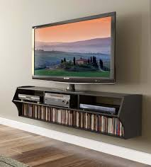 wall mounted flat screen tv cabinet with 58 wide black wall