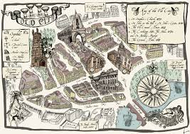 Medieval Maps Bristol Old City The Beautiful Medieval Heart Of Bristol