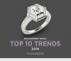 top engagement rings engagement rings top 10 trends of 2014 diamondere
