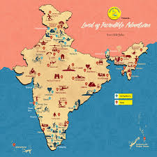 Agra India Map by India Land Of Incredible Adventures