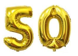 foil balloons 16 50 gold number balloons 50th birthday party anniversary foil