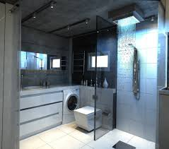 ultra modern shower waterfall plus square toilet idea also narrow