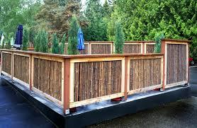 Backyard Fence Styles by Cool Backyard Fence Ideas Peiranos Fences Durable Backyard