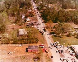 jayne mansfield house an aerial view of the southern airways flight 242 crash site in