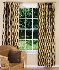 modern brown curtains waves chocolate