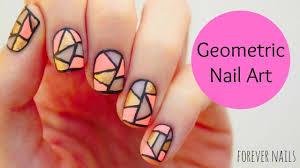 geometric nail art youtube