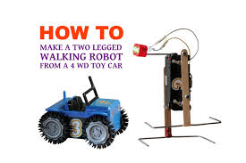 Making A Simple Toy Box by How To Make A Walking Robot From 4 Wd Toy Car Youtube